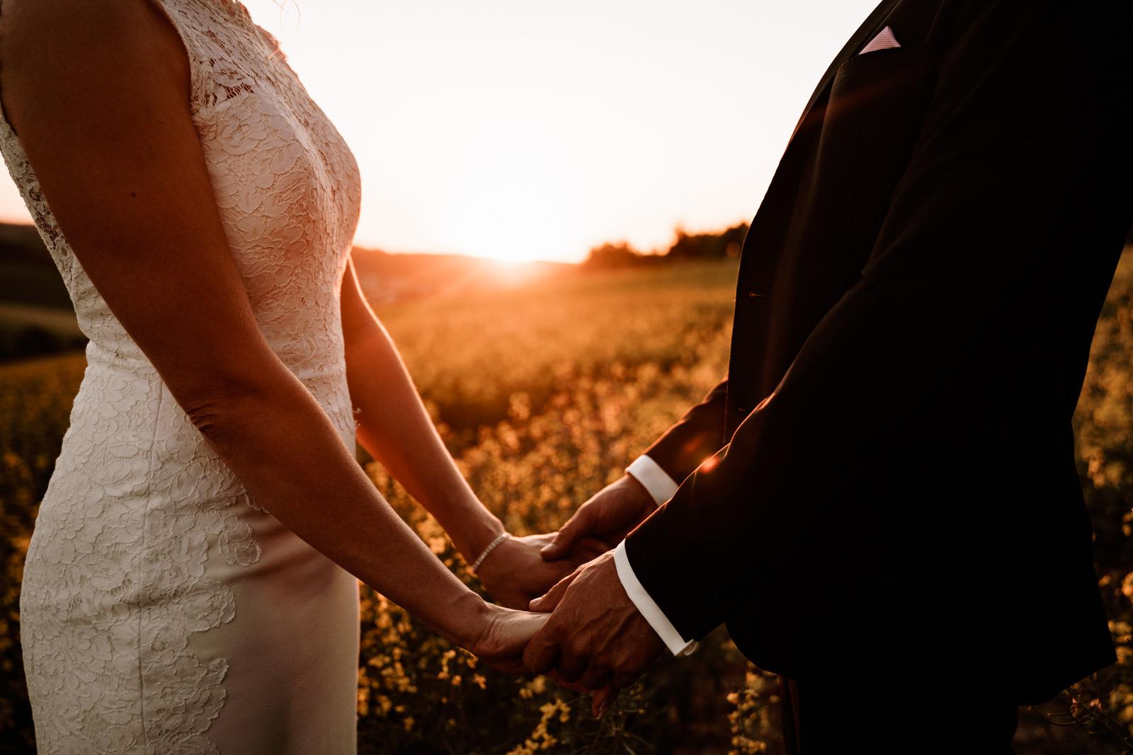 Hochzeitsbilder bei Sonnenuntergang in Würzburg durch Hochzeitsfotograf Axel Link