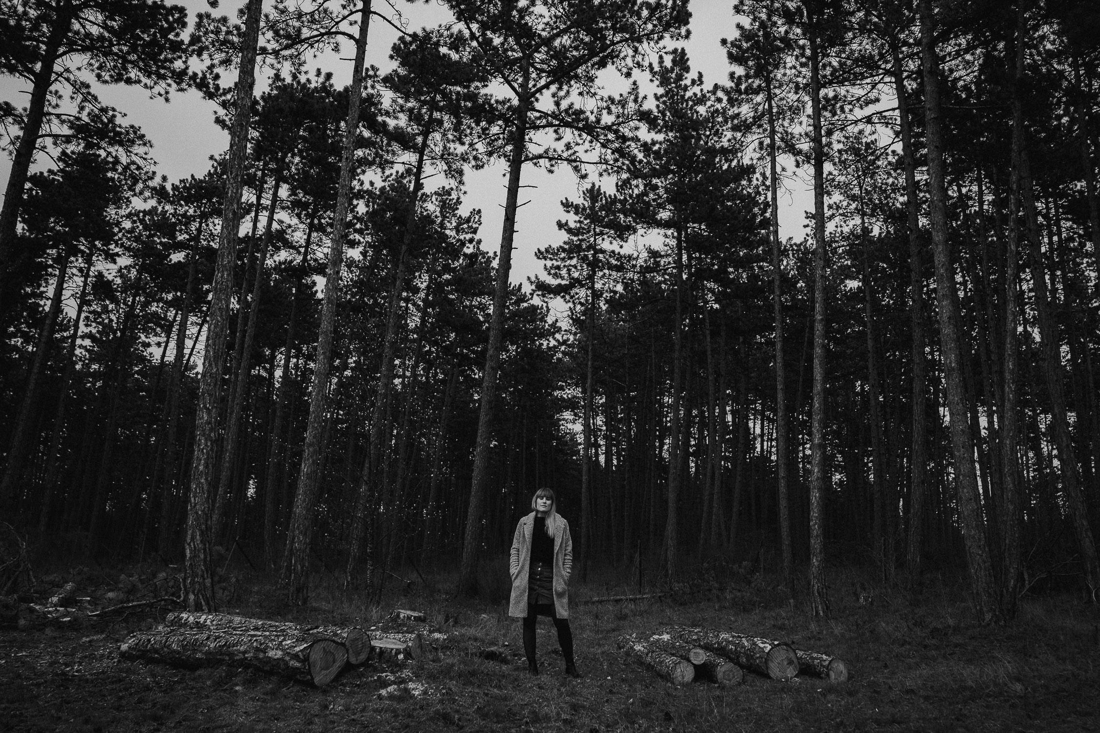 Pärchenbilder im Wald vom Hochzeitsfotograf Axel Link aus Wuerzburg
